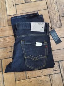 Replay Jeans (Brand new Italian size 30-32)