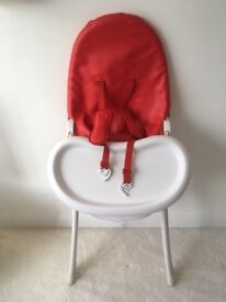 Bloom red highchair