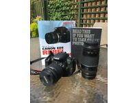 Canon 700d dslr starter pack with 2 books and zoom lens