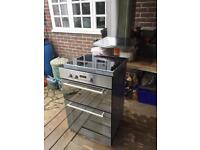 Hotpoint double oven, ceramic hob and extractor fan