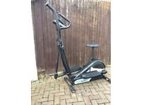 Roger Black 2 in 1 exercise bike and cross trainer
