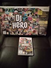 NINTENDO WII DJ HERO FOR Wii CONSOLE