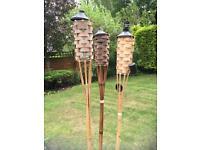 Bamboo garden lamps