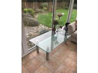 Glass furniture village coffee table