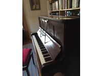 Piano for sale. Upright, iron framed, overstrung 'Challen' piano. Excellent tone and condition.