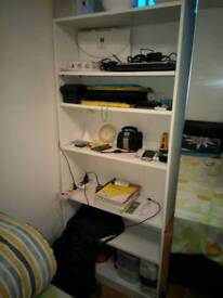 Vernon Wide 6 Shelf Bookcase - White