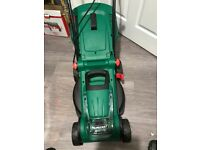 Qualcast 36v cordless rotary lawnmower with 36 volt battery and charger used once
