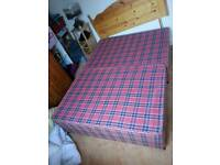 Double bed with mattress, headboard and 2 storage draws. MUST GO ASAP