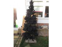 8foot tall Black Chrismas Tree