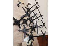 Bolero Cast Iron Ornate Table Leg Base New
