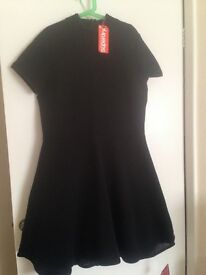 Superdry black dress new with tags size 14