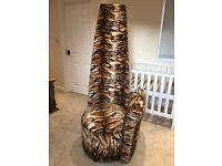 Potenza chair, beautiful tiger print