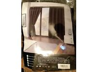 BRAND NEW CALI BLACK PLEAT BLACKOUT CURTAINS