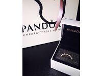 Pandora Ring - Black Stack Ring Size 54