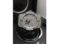 Hublot classic fusion Patek Phillipe Limited edition black diamond ice Audemars Piguet cartier Rolex