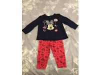 Disney Minnie Mouse baby girl outfit, 6-9 Months