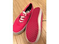 Pink vans size 4