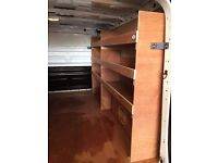 Wooden Van Racking Supplied & Fitted For Most Commercial Vehicles