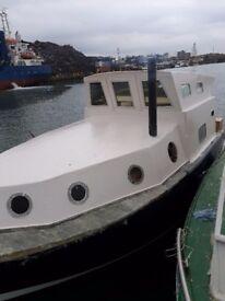 Unfinished liveaboard project boat