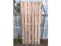 Garden gate solid wood