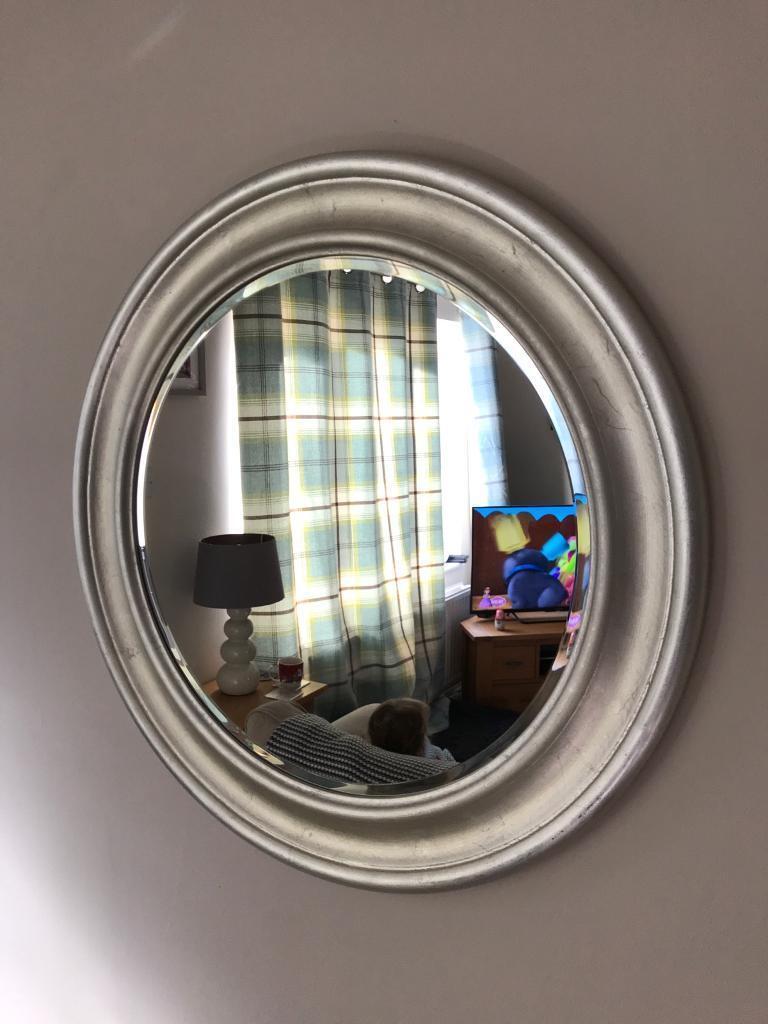Large Round Wooden Frame Mirror Ikea E