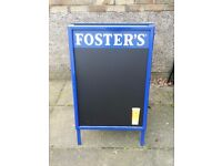 A1 fosters branded double sided A board