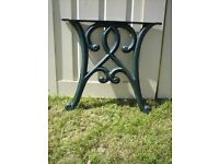 TABLE ENDS CAST IRON....offers..