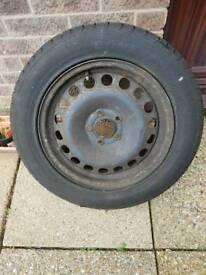 Vauxhall spare wheel