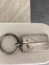 Sterling silver Concorde key ring
