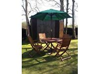 Large Garden Table and Chairs with parasol
