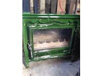 SOLD PENDING COLLECTION - Godin 6.5kw Cast Iron Wood Burning Stove - enamel damaged.