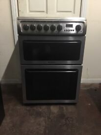 Hotpoint electric cooker 60cm stainless steel double oven 3 months warranty free local delivery!!!
