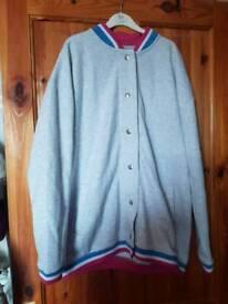 ASOS oversized baseball jacket size 12