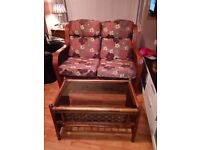 Cane conservortry furniture for sale with 2x chairs and 2 x seater settee and table