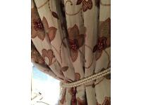 """Stunning thick heavy tapestry embroidered curtains 102""""x 53"""" curtains"""