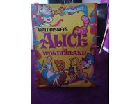 For sale £5 . alice in wonderland canvas. Good condition pick up toft hill