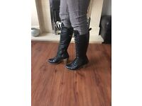 Ladies leather Dune boots . Size 7