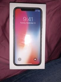 iPhone X 64GB, space grey, brand new, still sealed £750