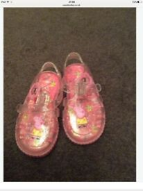 Infant size 4 Peppa Pig jelly shoes, immaculate condition.