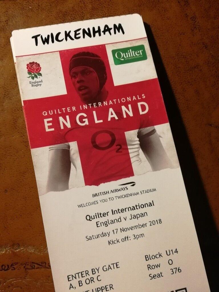 5a7fe61af4c 6 tickets for England v Japan Rugby - Autumn International 17th November