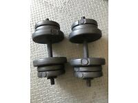 Weight training dumbbells with weights 22kg