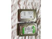 2x 500GB hard drives