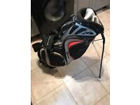 TaylorMade Golf Bag, built in stand and double shoulder carrying strap