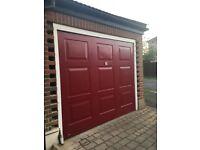 Garage Door with lock and key
