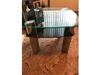 Beautiful glass square coffee table or side table