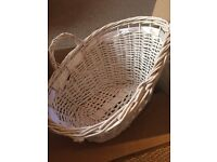 NEW White Basket suitable for baby items