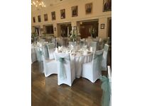 100 white chair covers for sale £70.00
