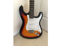 Fender Stratocaster Style Johnny Brook Electric Guitar - with strap and gig bag