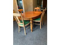Display cabinet and matching table and 4 chairs