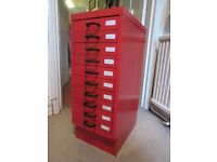 10-drawer filing cabinet